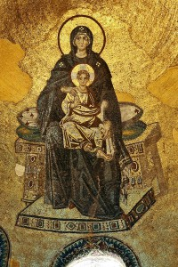 Apse mosaic of the Theotokos (Virgin Mother and Child)