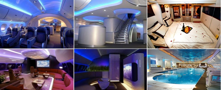 Interiors Of The Luxurious Aircrafts