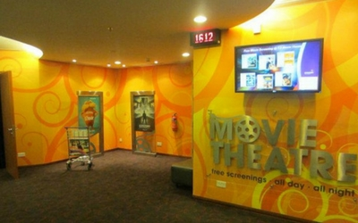 Watch a movie at Changi Airport, Singapore - Flamingo Travels
