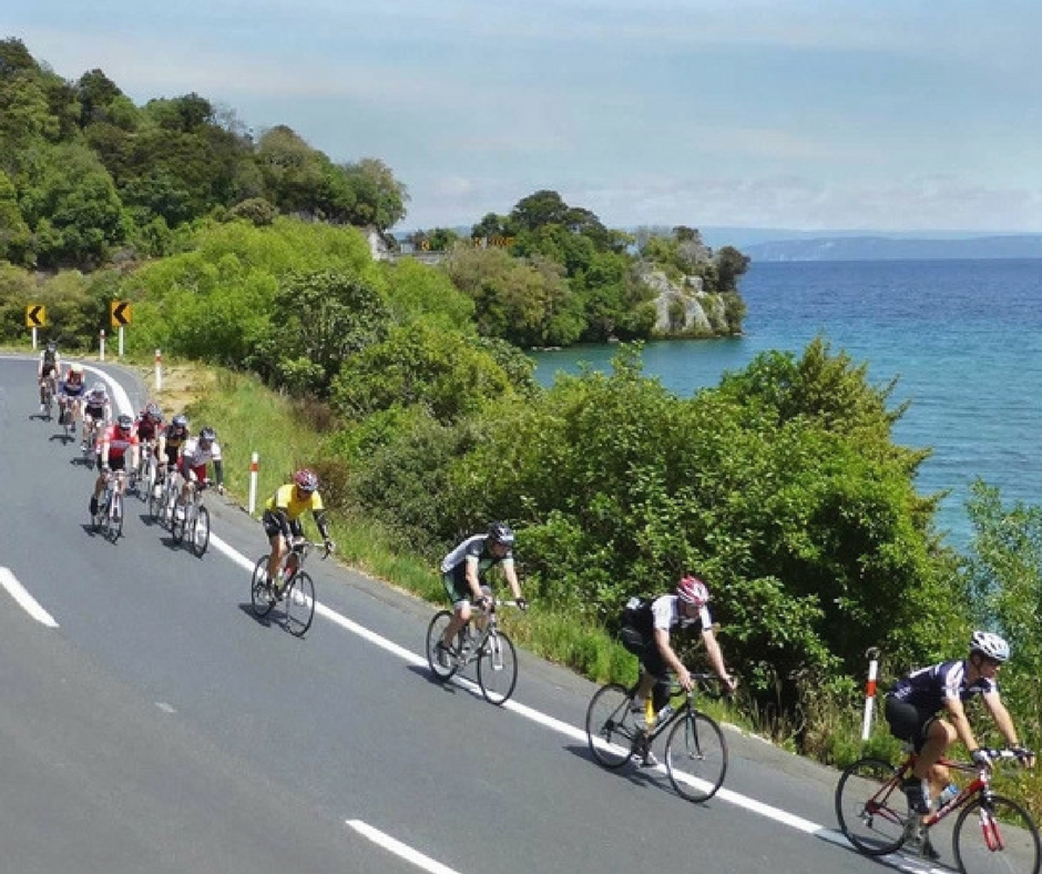 Lake Taupo Cycling in New Zealand with Flamingo Travels
